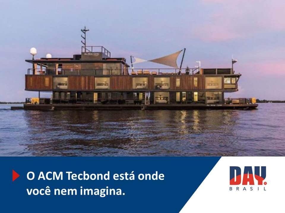 Chapa de ACM em barcos