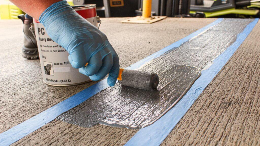 Aplicação de Textura antiderrapante chão